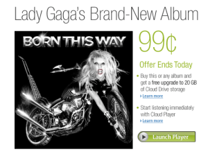 Lady Gaga Born This Way Amazon Sale